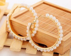 Gold Ear Ring Round Hoop Ear Rings for Women