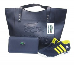 Women's Lacoste Bag,Wallet and Low Cut Sneaker