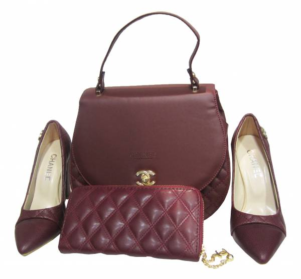Women's CHANEL 2 Piece Bag With High Heel Shoe