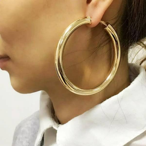 Gold Ear Ring Round Hoop Ear Ring for Women