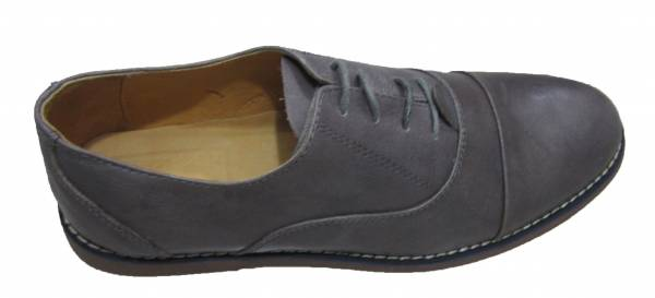 Men's Grey Leather Shoe